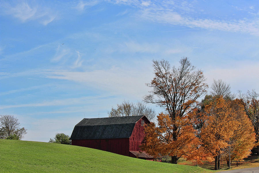 Indiana Farm In The Fall Photograph