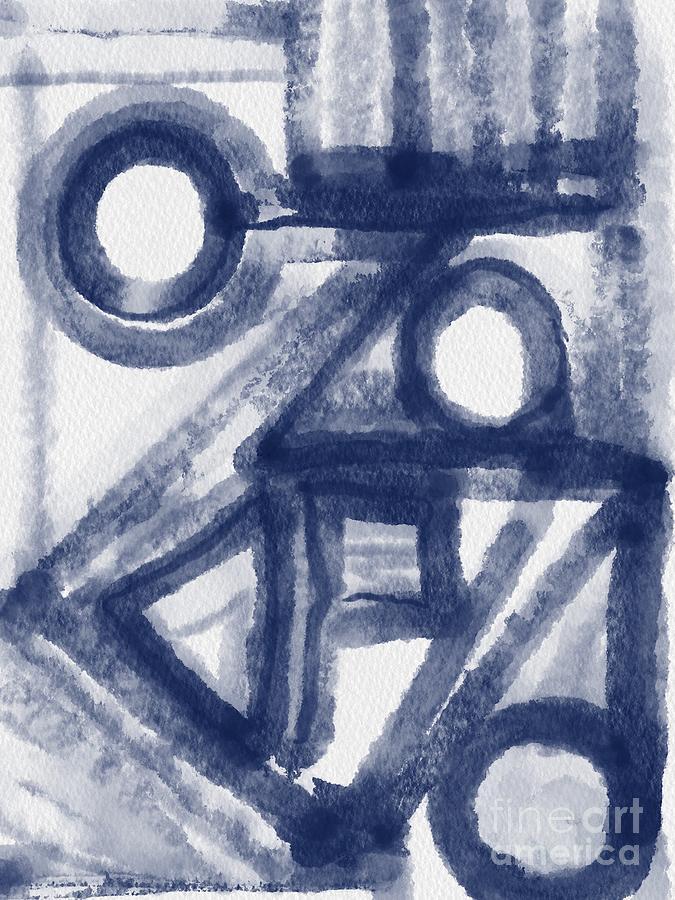 Indigo Abstract Painting