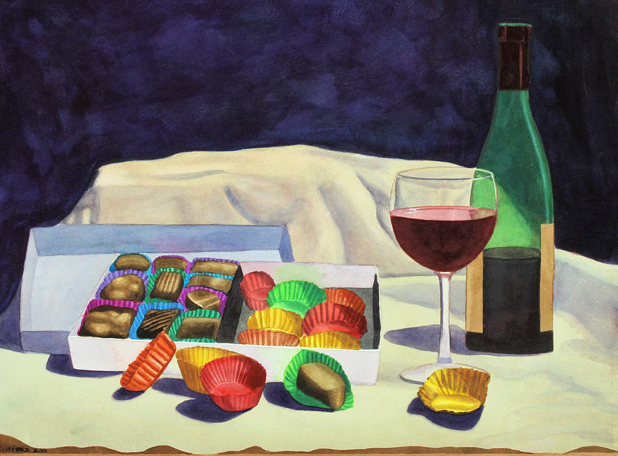 Food Painting - Indulgence by Cory Clifford