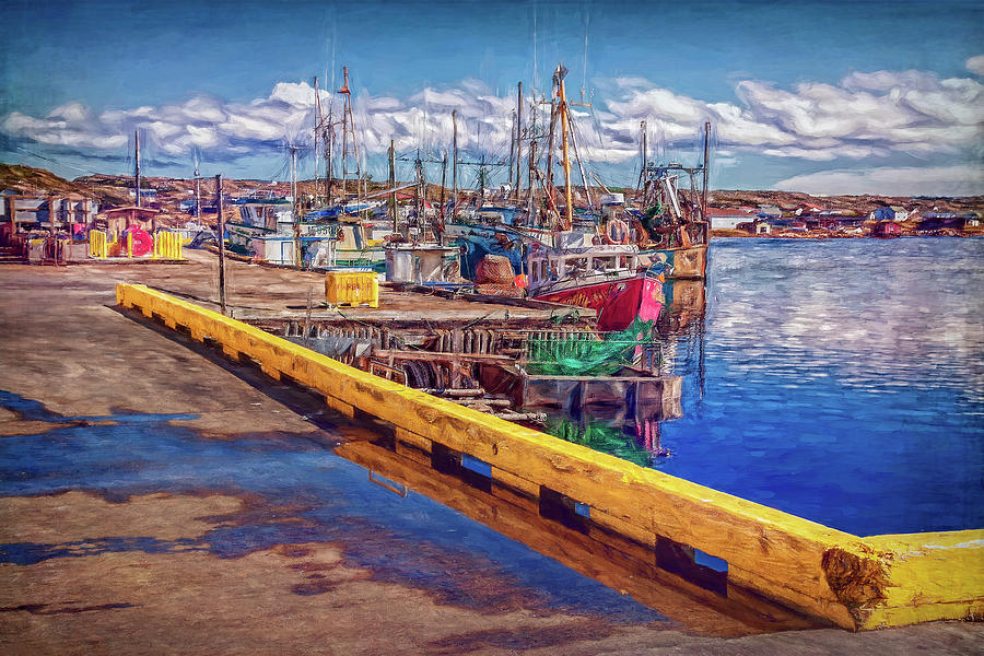 Industrial Fishing Photograph - Industrial Fishing In Newfoundland - Digital Painting by Tatiana Travelways