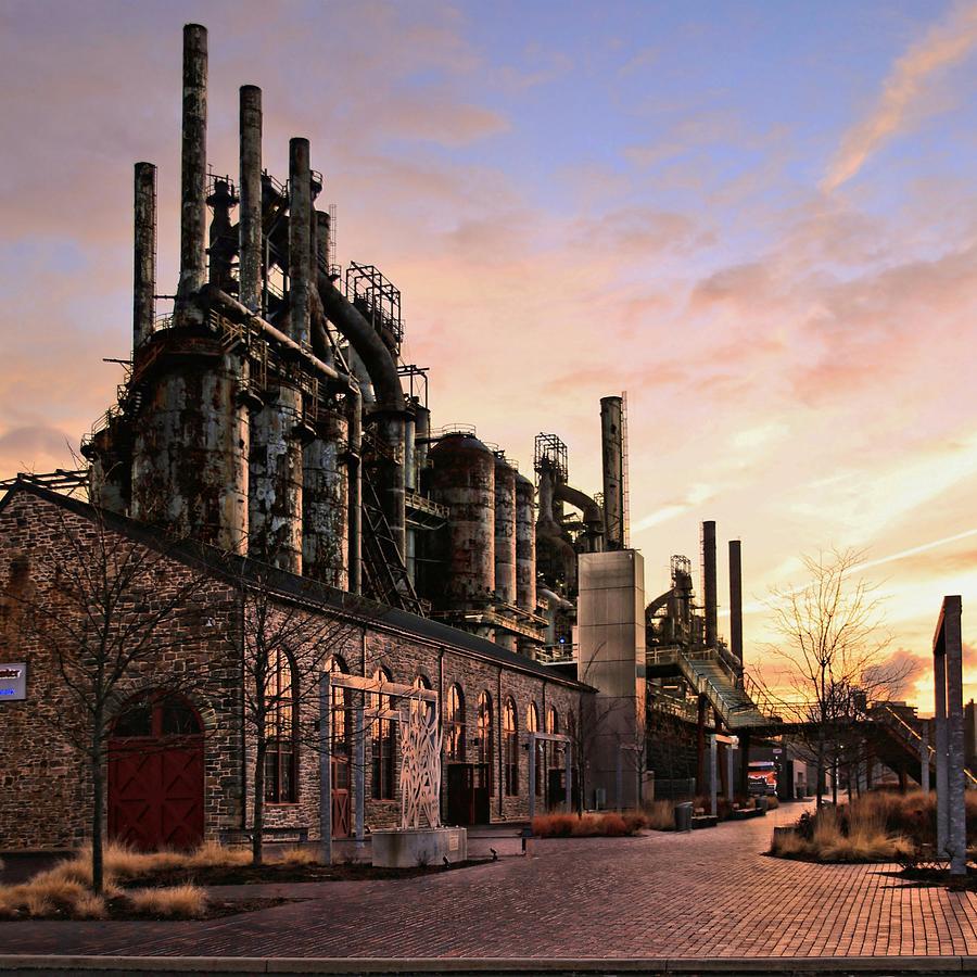 Bethlehem Photograph - Industrial Landmark by DJ Florek