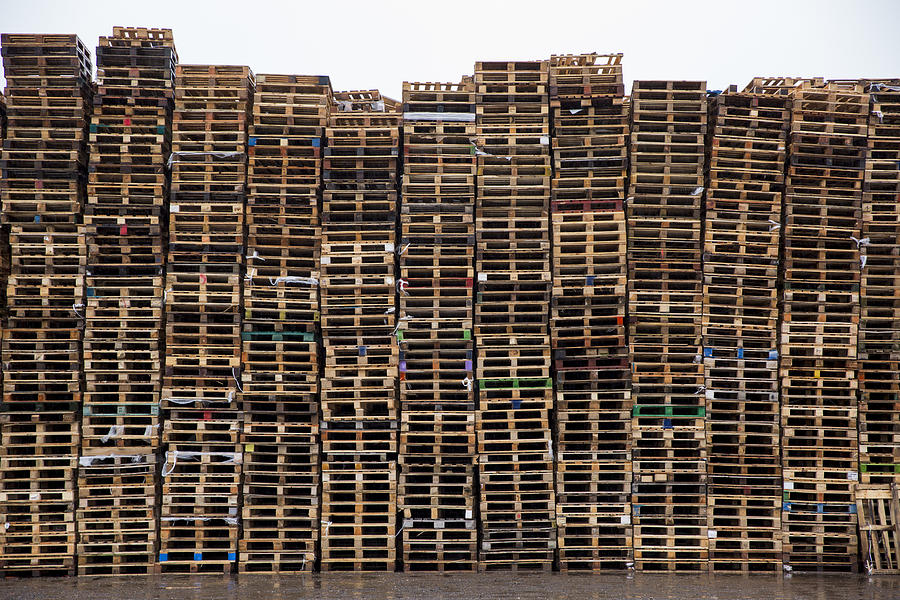 Industrial Pallet Stack Photograph by Andrew Aitchison