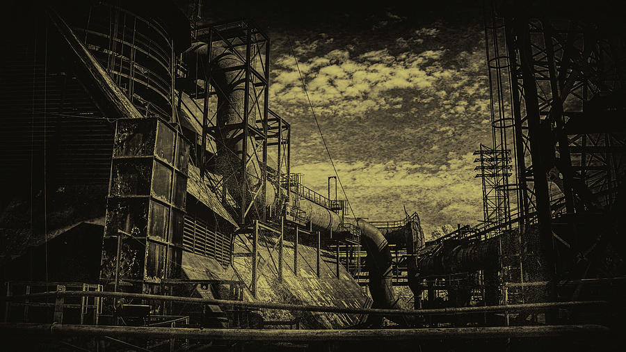 Bethlehem Photograph - Industrial Serpent by Jim Cook