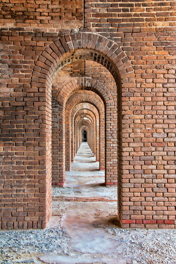 Infinite Arches At Fort Jefferson by Kristia Adams