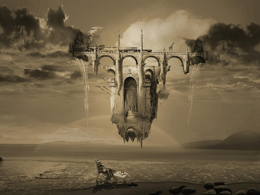 Rugged Digital Art - Infinite Improbability Drive by George Grie