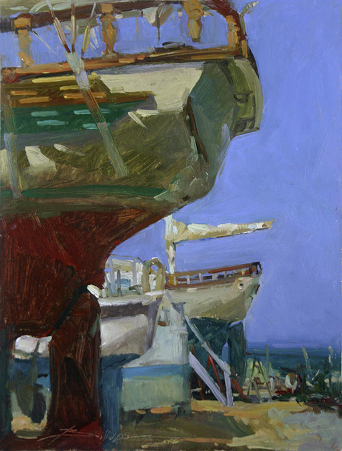 Catalina Island Painting - Infinity Awaiting Winter - Plein Air Catalina Island by Betty Jean Billups