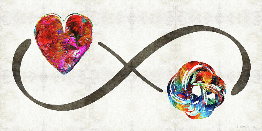Infinity Symbol Painting - Infinity Love Knot - Always And Forever - Sharon Cummings by Sharon Cummings