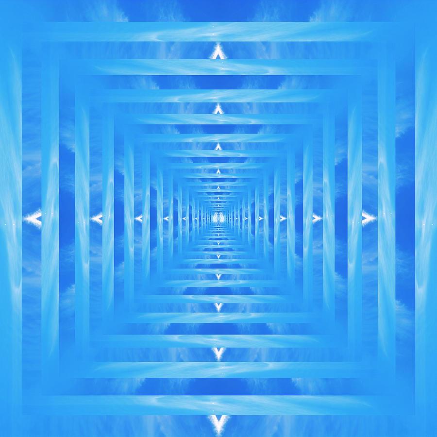 Infinity Tunnel Angel Wings Digital Art
