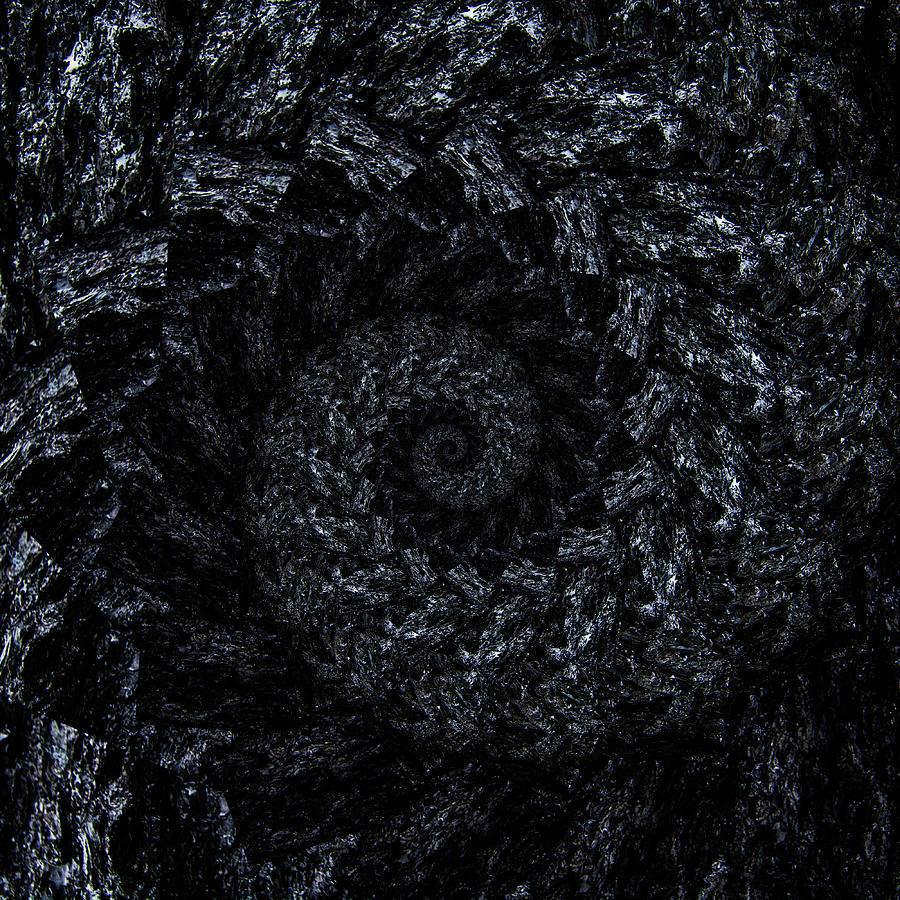 Infinity Tunnel Spiral Burnt Bark Digital Art