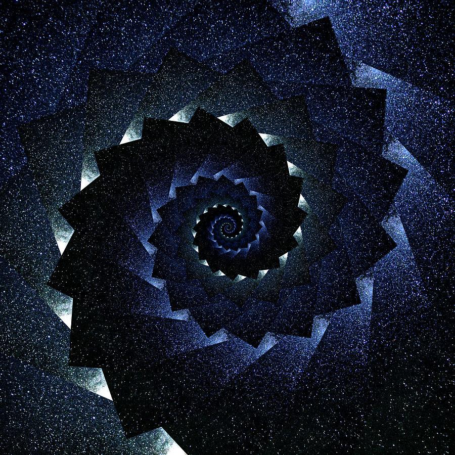 Infinity Tunnel Spiral Milky Way Digital Art
