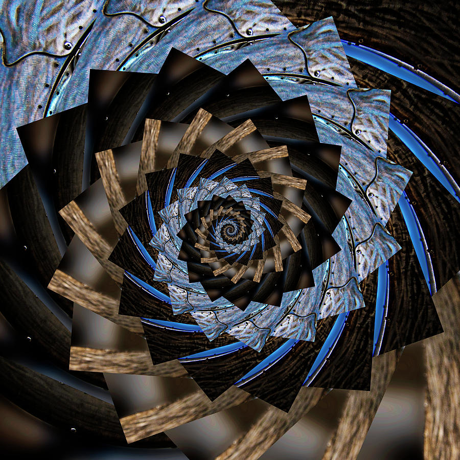 Infinity Tunnel Spiral Salmon Waves 2 Digital Art