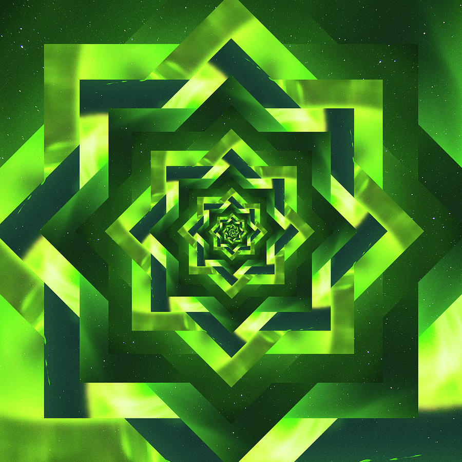 Infinity Tunnel Star Aurora Borealis Digital Art