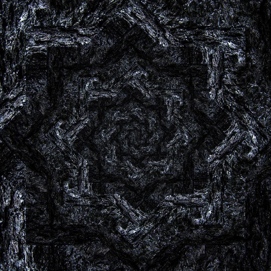 Infinity Tunnel Star Burnt Bark Digital Art