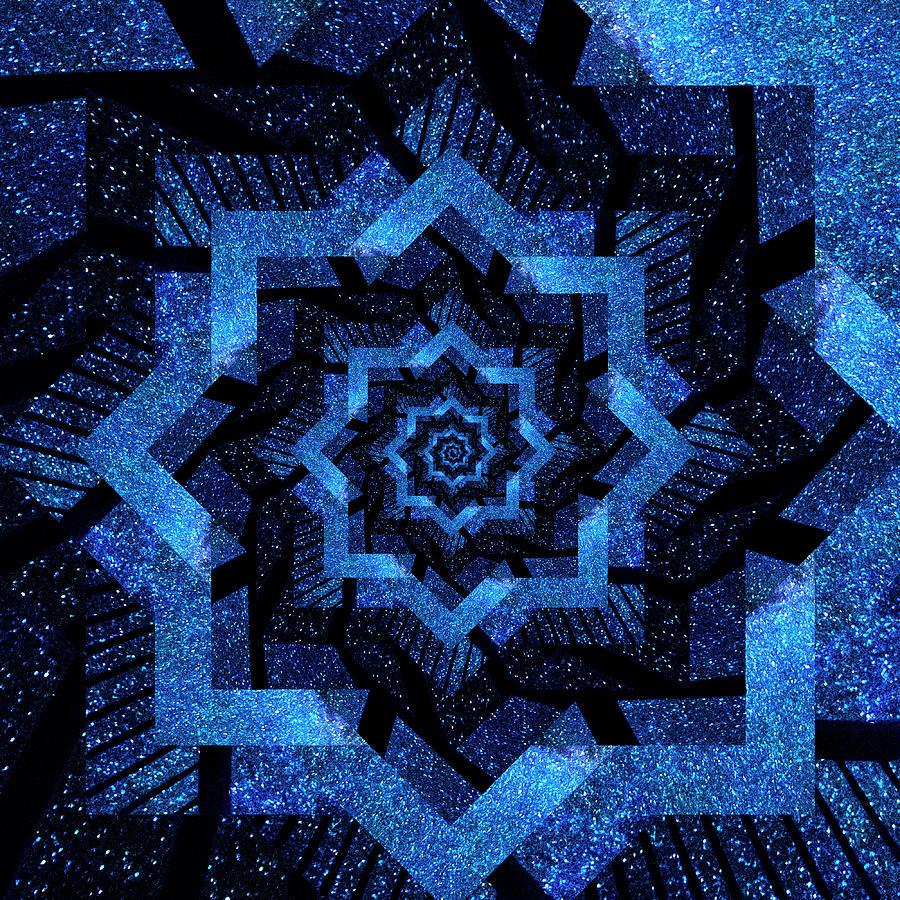 Infinity Tunnel Star Milky Way Fence Digital Art