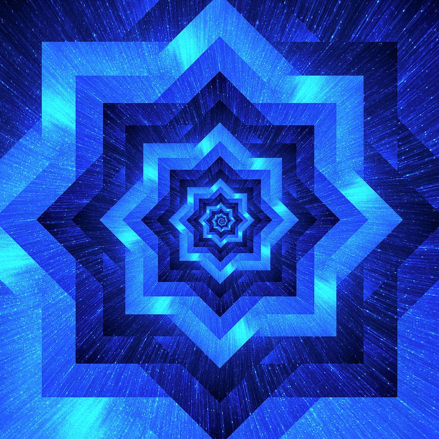 Infinity Tunnel Star Milky Way Zoom Digital Art
