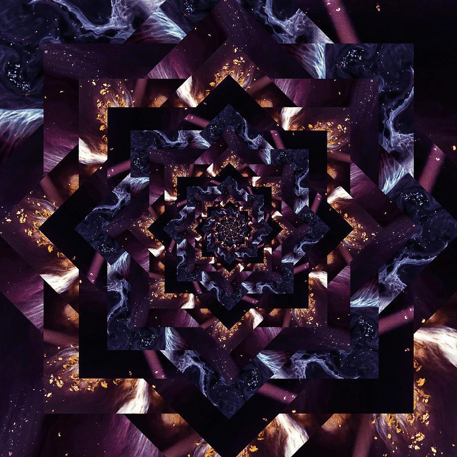 Infinity Tunnel Star Space Gas Digital Art