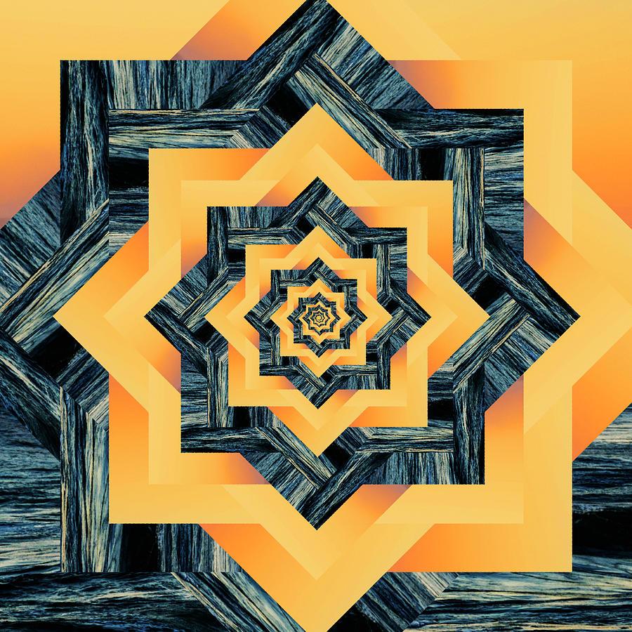 Infinity Tunnel Star Sunset Wave Digital Art