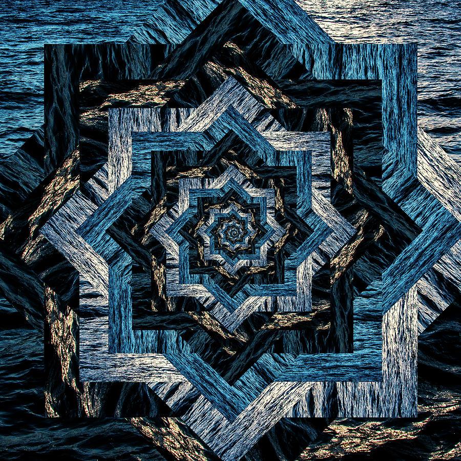 Infinity Tunnel Star Waves At Sunset Digital Art