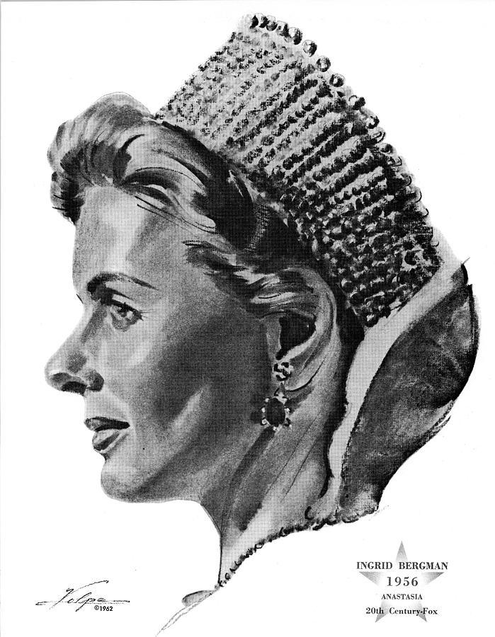Ingrid Bergman 2 By Volpe Drawing