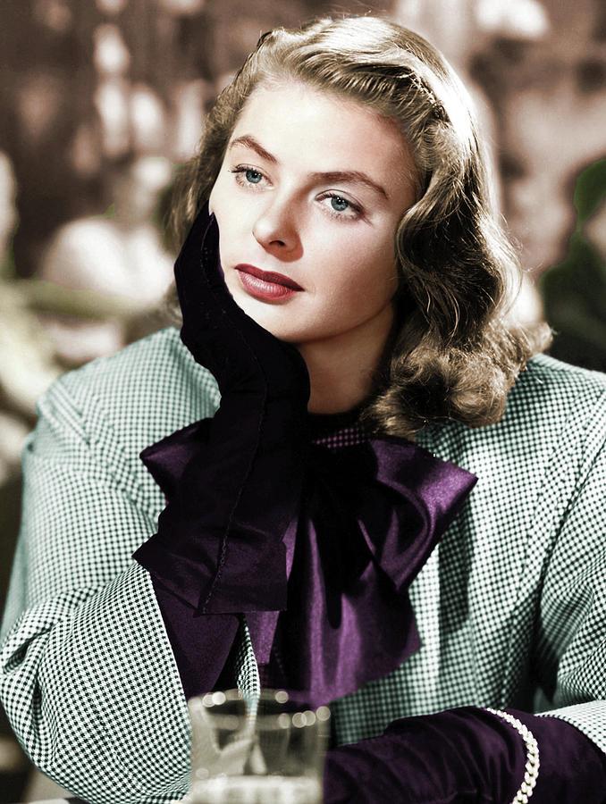 Ingrid Bergman Colorized Photograph