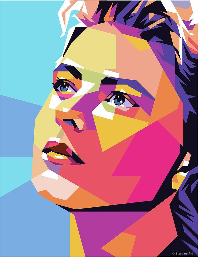 Ingrid Bergman by Stars on Art