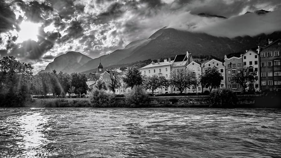 Inn River bnw by Borja Robles