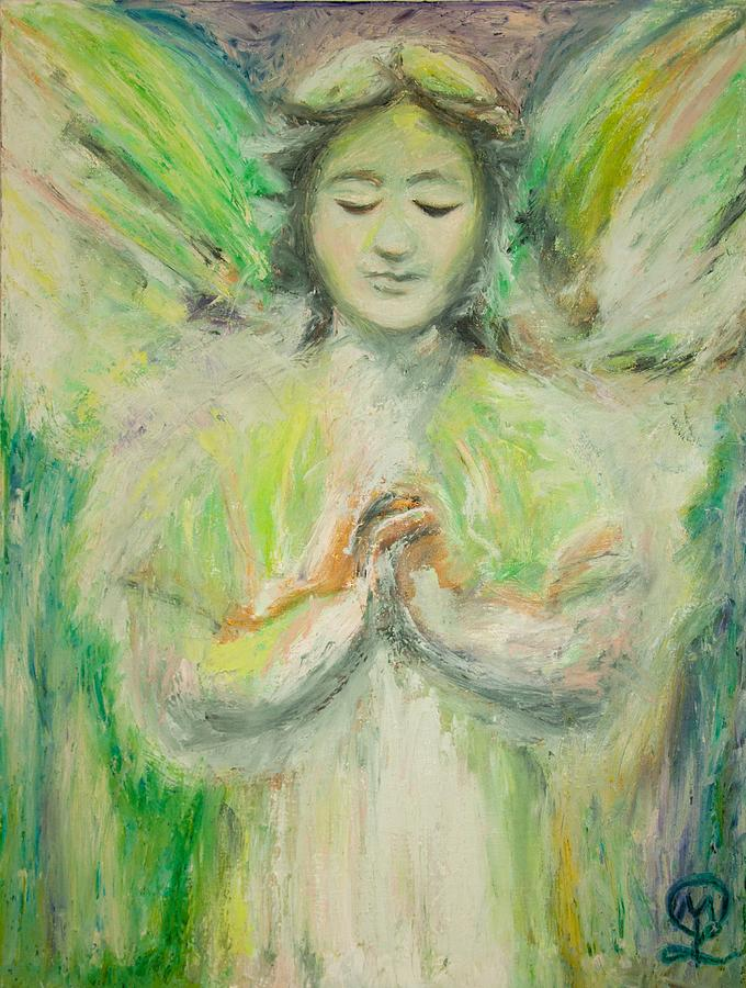 Angel Painting - Inner Sanctum by Therese Legere