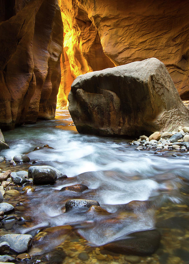 The Narrows Photograph - Inside the Narrows by Jake Sublett