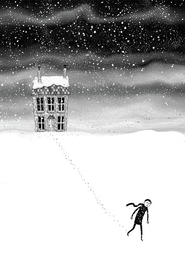 Snow Drawing - Inside the Snow Globe  by Andrew Hitchen