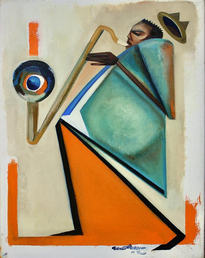 Jazz Painting - Interboogieology by Martel Chapman