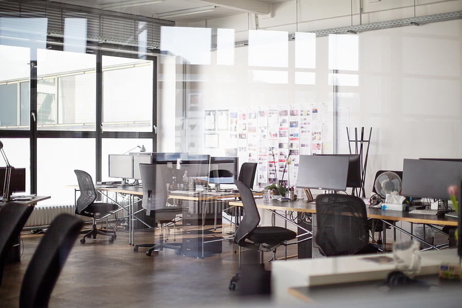 Interior of open office Photograph by Luis Alvarez