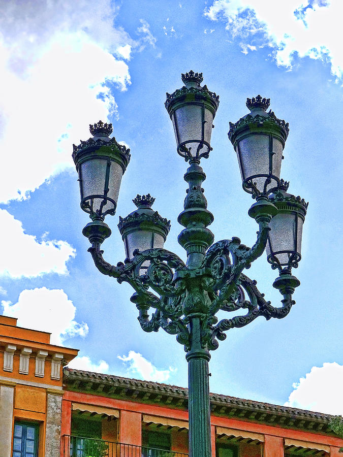 Intricate Lampost - Toledo Spain Photograph