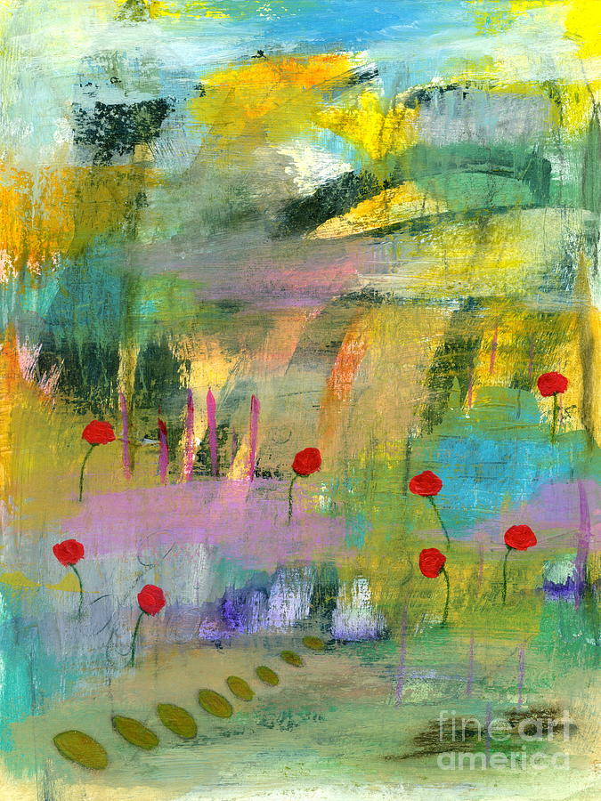 Abstract Landscape Painting - Into the Wild 1 Abstract Landscape Painting by Itaya Lightbourne