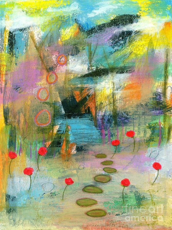 Into The Wild Painting - Into the Wild 2 Abstract Landscape Painting by Itaya Lightbourne