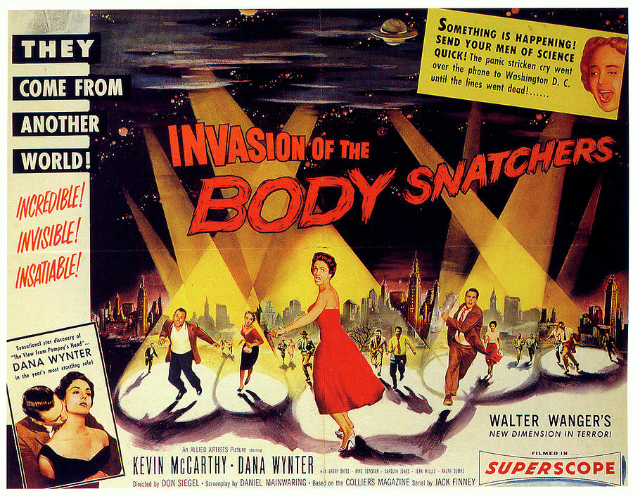 invasion Of The Body Snatchers Movie Poster 1956 Mixed Media