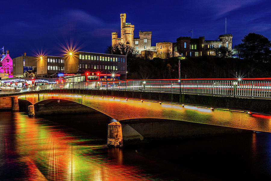 Inverness Castle At Night Photograph