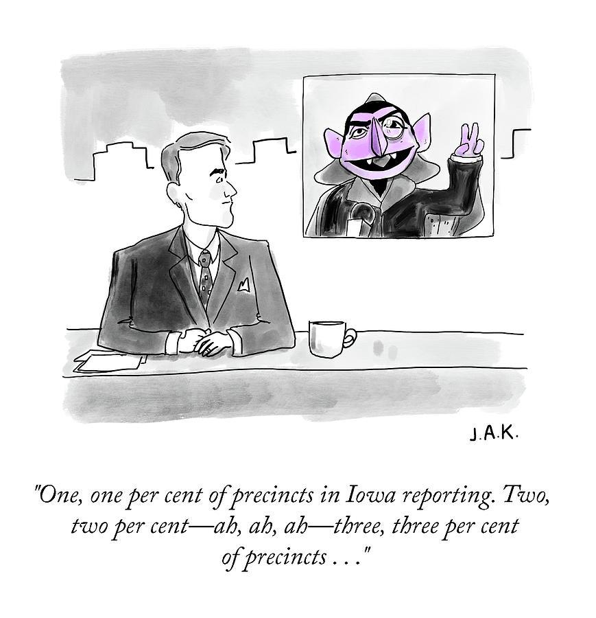 Iowa Reporting Drawing by Jason Adam Katzenstein