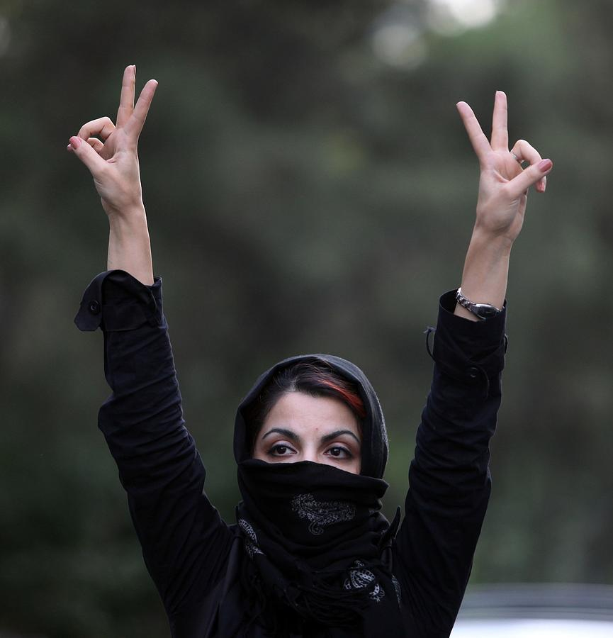 Iranian Protesters Clash With Security Forces Photograph by Getty Images