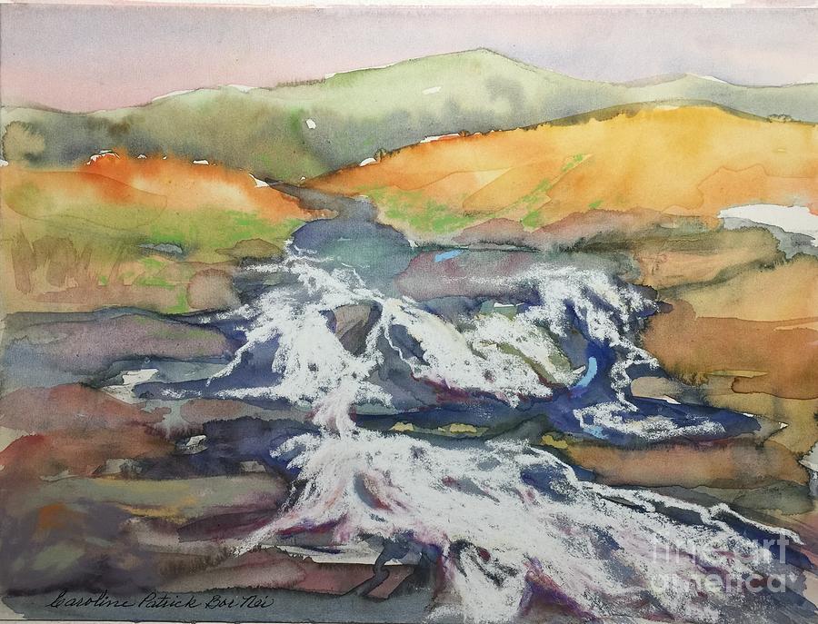 Water Painting - Ireland Highland Stream by Caroline Patrick