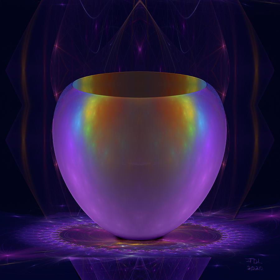 Iridescent Vase Digital Art