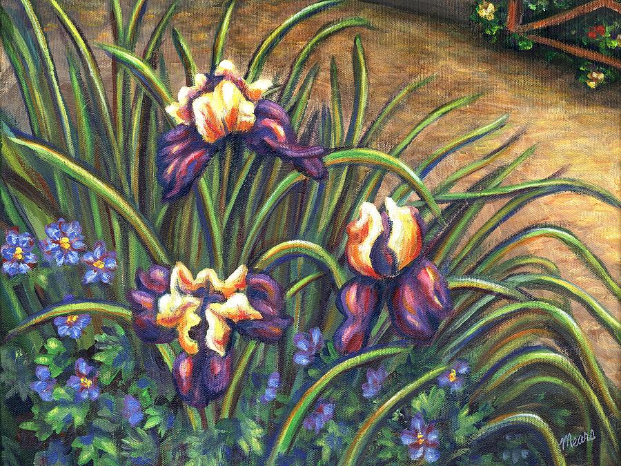 Iris Flower Garden Painting