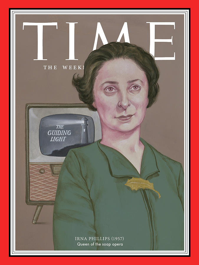Time Photograph - Irna Phillips, 1957 by TIMEIllustration by Anita Kunz for TIME