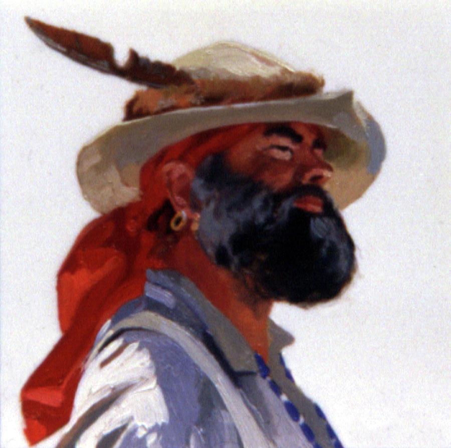 Mountain Men Painting - Iron Jaw by Betty Jean Billups