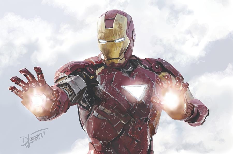 Iron Man Speed Painting by David Luebbert