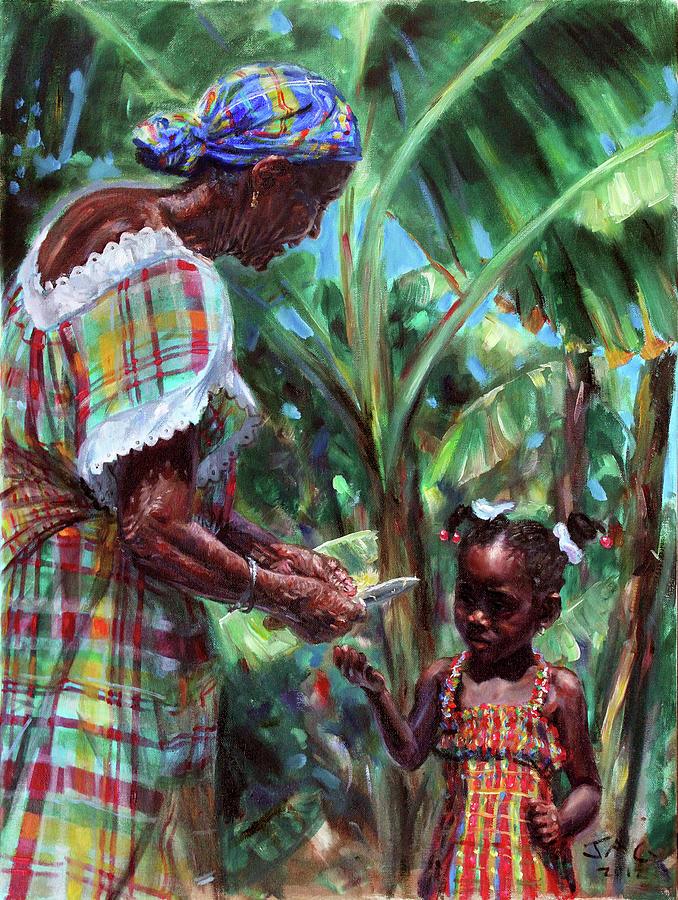 Caribbean Painting - Ish Mwen by Jonathan Guy-Gladding JAG