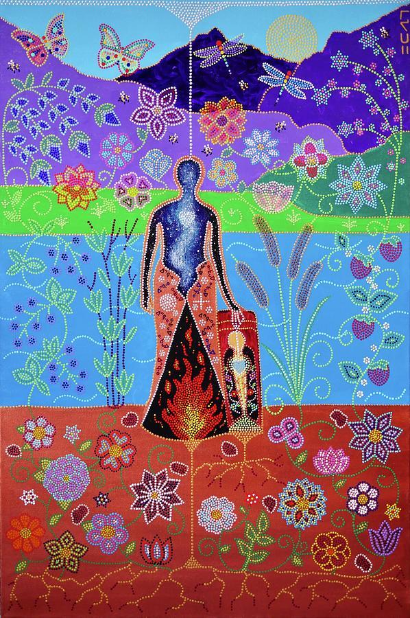 Culture Painting - Iskwew Woman by Karlee Fellner