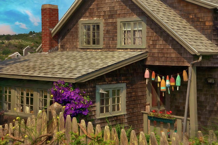 Island Cottage - Maine Photograph