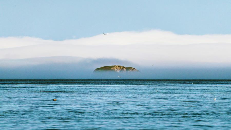 Island In The Fog Photograph