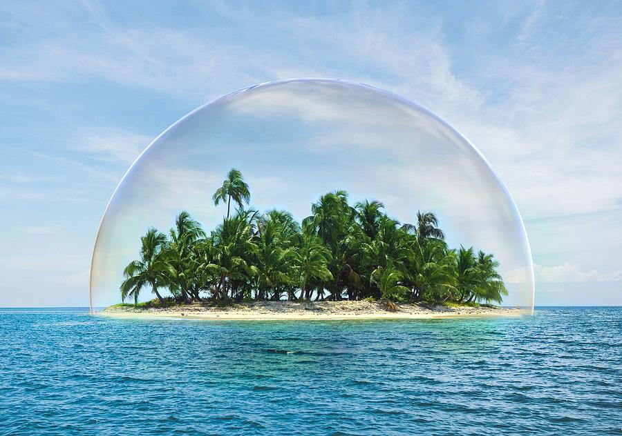 Island Nature Preservation Digital Art