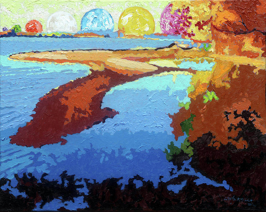 Island Painting - Island of Consciousness  by John Lautermilch